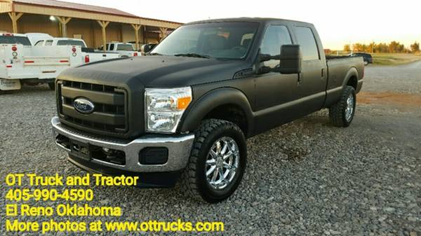 2011 Ford F-250 XL 4wd Crew Cab Long Bed 4x4 6.7L F250 Diesel Pickup