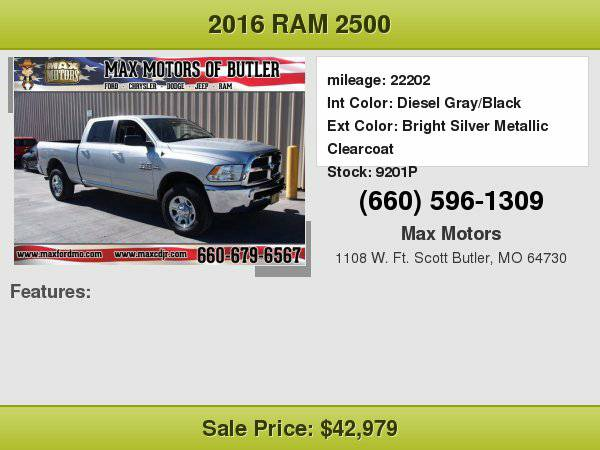 2016 RAM 2500 SLT **WE FINANCE**WE LOVE TRADE-INS**