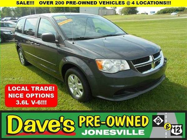 2012 *Dodge Grand Caravan* SE 4dr Mini Van - BLACK