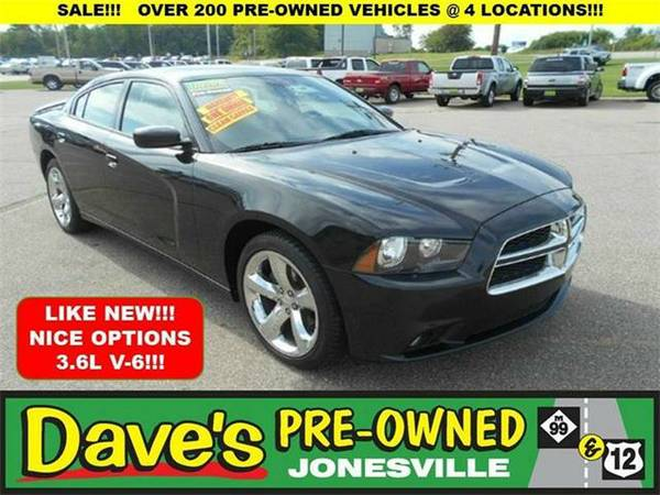 2012 *Dodge Charger* SXT Plus 4dr Sedan - BLACK