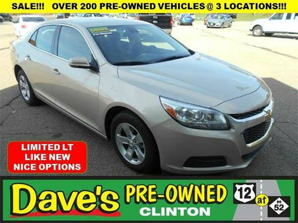 2016 *Chevrolet Malibu Limited* LT 4dr Sedan - BEIGE