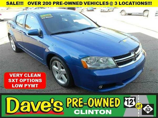 2013 *Dodge Avenger* SXT 4dr Sedan - BLUE