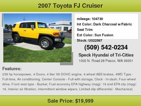2007 Toyota FJ Cruiser with