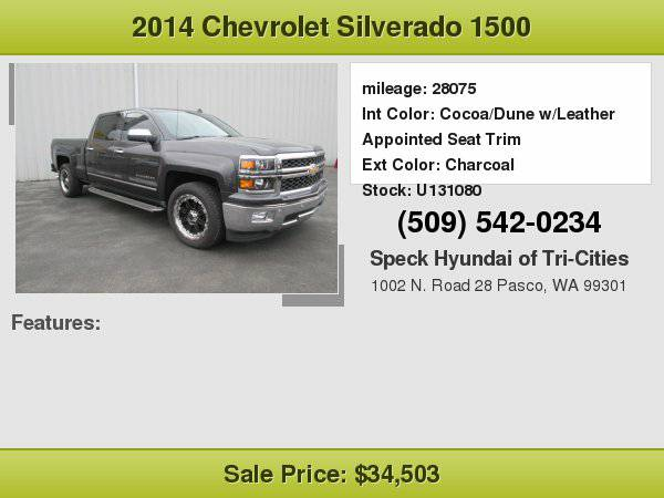 2014 Chevrolet Silverado 1500 1LZ with