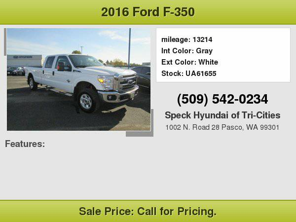 2016 Ford F-350 with