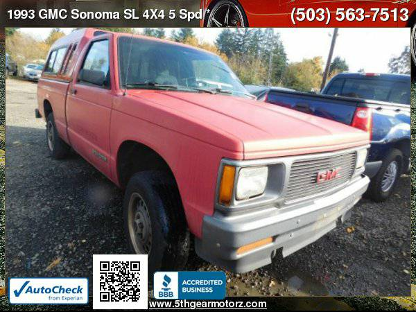 1993 GMC Sonoma SL 5 Spd *2 OWNER!* CALL!