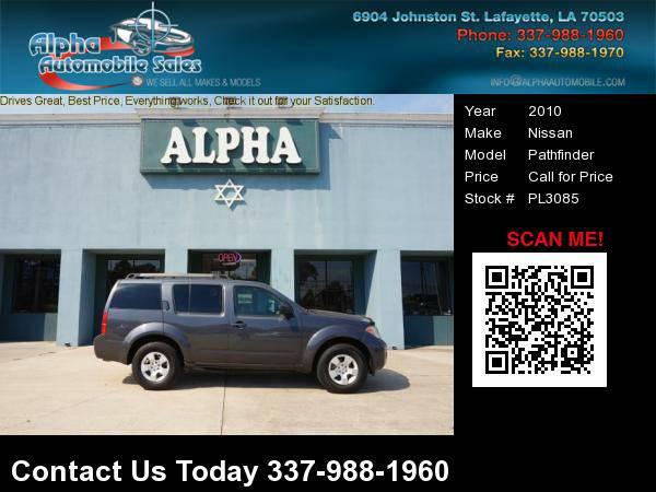2010 Nissan Pathfinder 4 Dr SUV