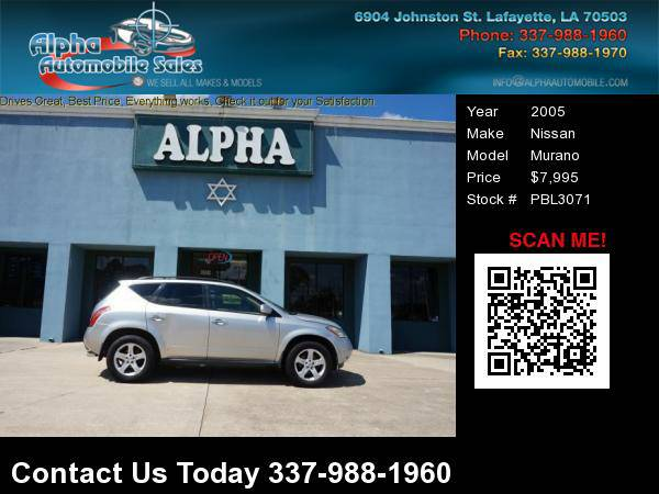 2005 Nissan Murano 4 Dr Utility