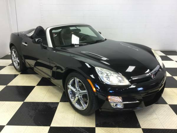 2007 SATURN SKY CONVERTIBLE! LEATHER! CHROME WHEELS! SUPER LOW MILES!!