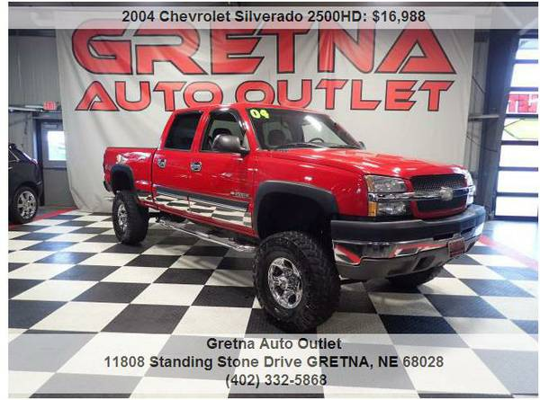 2004 Chevrolet Silverado*2500HD LS LIFTED UP 3/4 TON 4X4 HUSKER RED!!