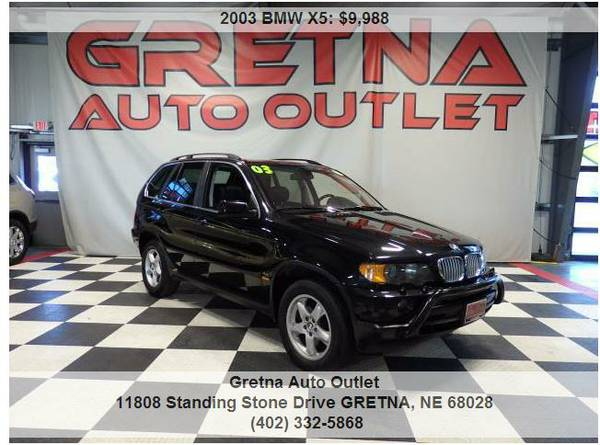 2003 BMW X5**4.4 AWD BLACK OVER BLACK GREAT TIRES HEATED LEATHER ROOF*