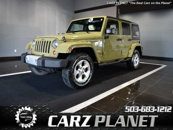 2013 Jeep Wrangler Unlimited Sahara Nav Leather jeep wrangler 4x4