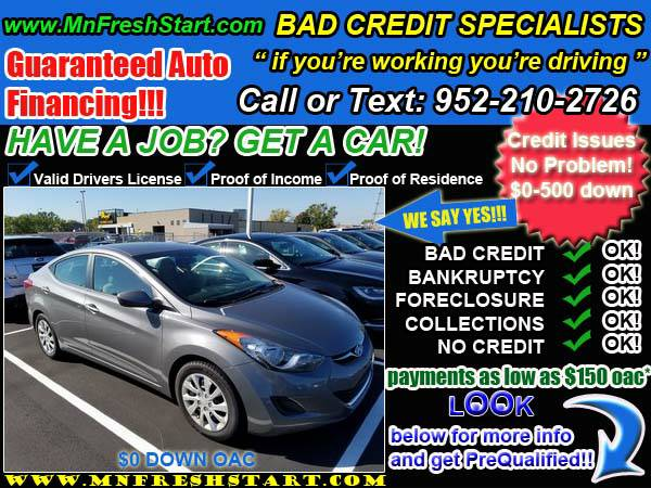 █* 2012 *HYUNDAI* *ELANTRA* *BAD* or *NO* *CREDIT* ok! *█