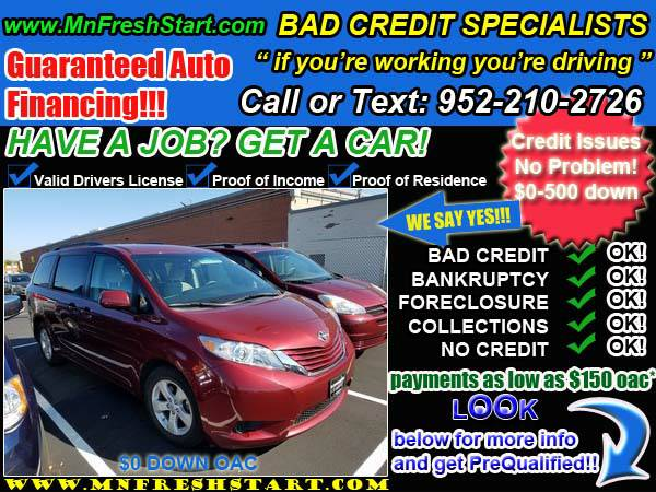 █* 2015 *TOYOTA* *SIENNA* *BAD* or *NO* *CREDIT* ok! *█