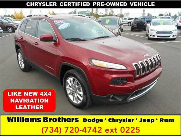 2015 *Jeep Cherokee* Limited 4x4 4dr SUV (DEEP CHERRY RED)