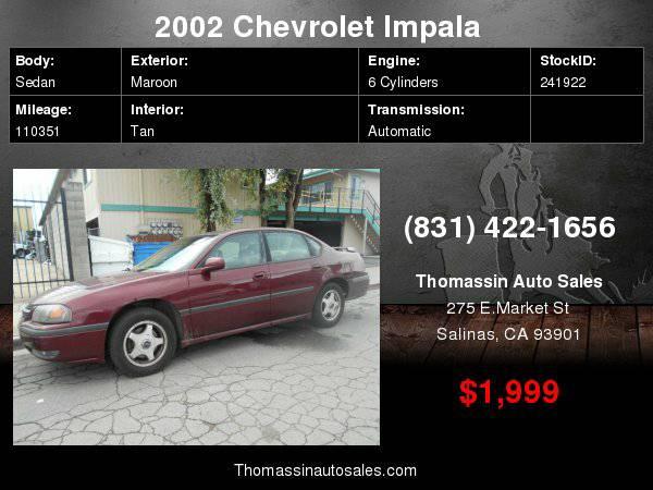 2002 Chevrolet Impala 4dr Sdn LS