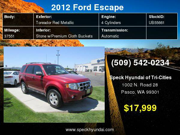 2012 Ford Escape XLT with