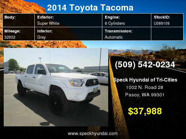 2014 Toyota Tacoma Base V6 with