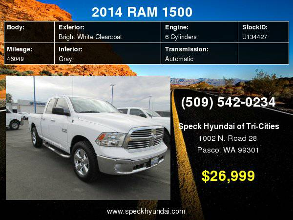 2014 RAM 1500 SLT with