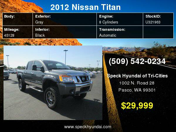 2012 Nissan Titan SV with