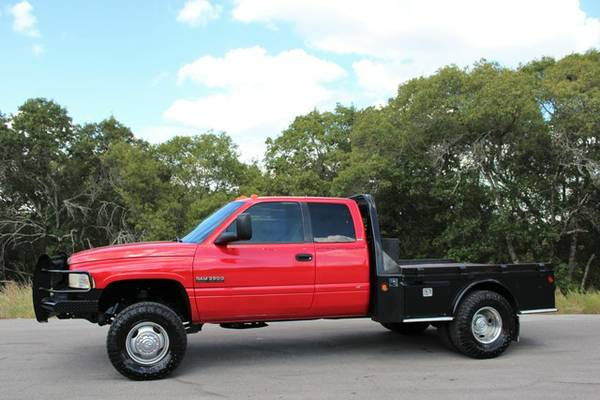 1997 DODGE RAM 3500 12V FLATBED 5SPD MANUAL*VERY NICE!*CALL/TEXT NOW!