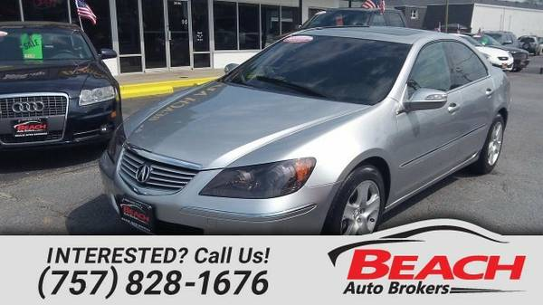 2007 Acura RL CARFAX CERTIFIED, LEATHER HEATED SEATS, MOONROOF, Sedan