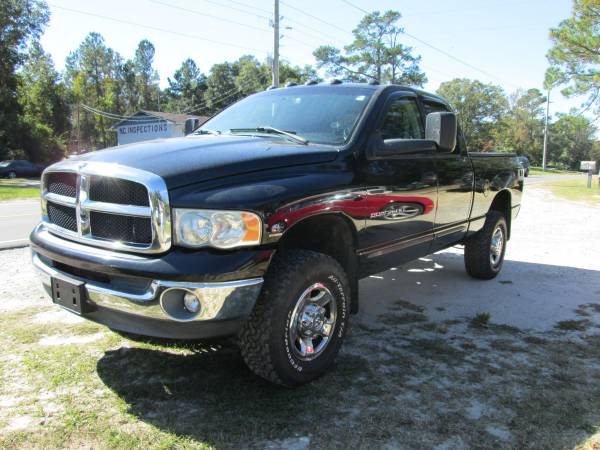 2003 DODGE RAM 2500 CREW CAB, 4X4, SHORT BED, 5.9 CUMMINS DIESEL
