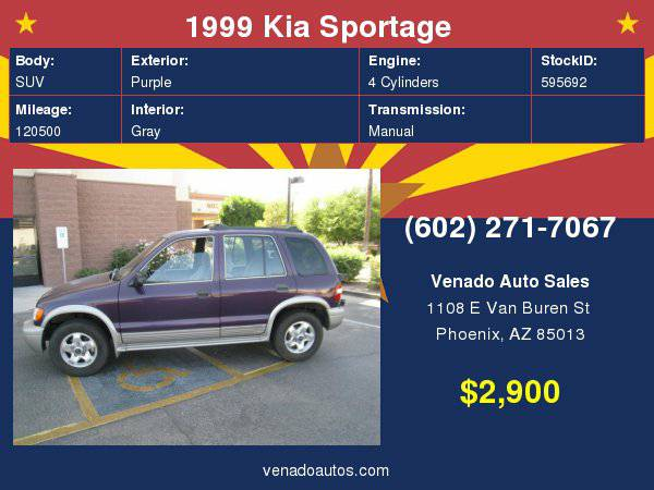 1999 Kia Sportage 4dr Auto 4WD **BUY HERE PAY HERE **