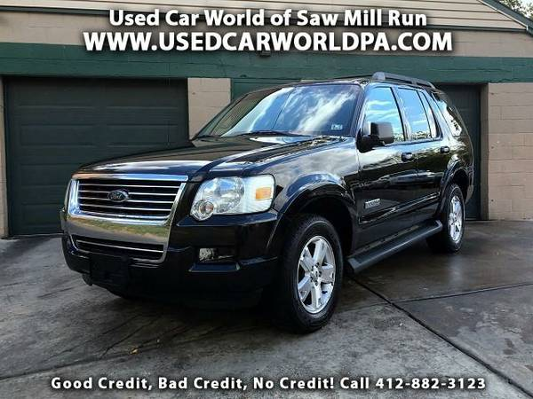 == 2007 FORD EXPLORER XLT 4.0L 4WD ==3rd Row, Htd Leather, Sunroof, CD