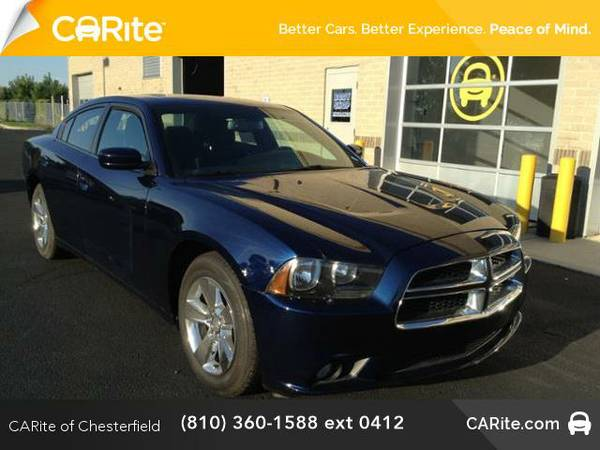 2014 *Dodge Charger* 4dr Sdn SXT RWD (Jazz Blue Pearlcoat)