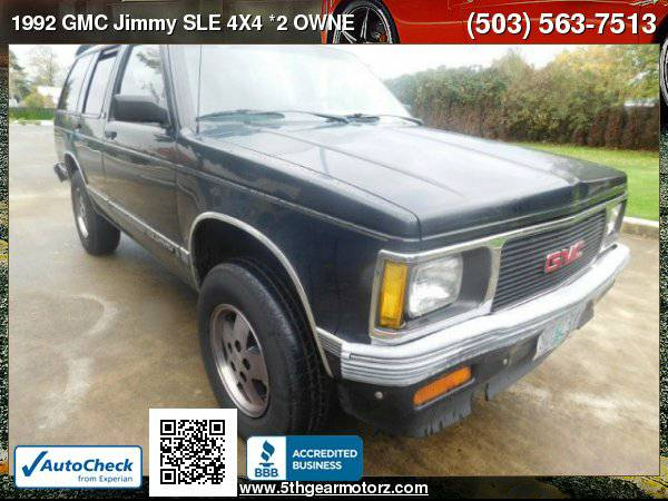 1992 GMC Jimmy SLE 4X4 *2 OWNER w/ 130K* CALL!!