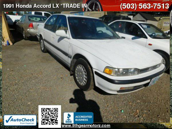 1991 Honda Accord LX *TRADE IN BLOWOUT SALE!* CALL!