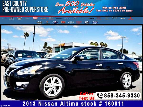 2013 Nissan Altima 2.5 SL Stock# 160811