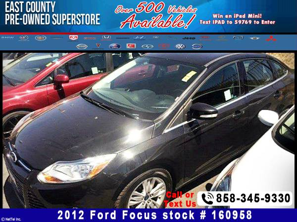 2012 Ford Focus SEL Stock #160958