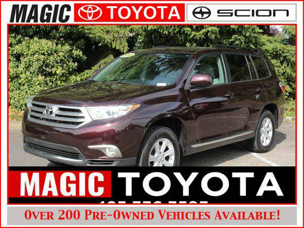 2013 *Toyota* *Highlander* AWD RATES AS LOW AS 0% OAC ON SELECT MODELS