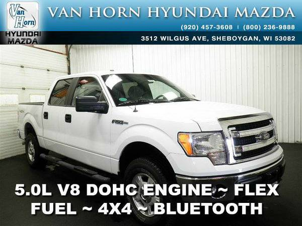 2014 *Ford F-150* 4x4 SuperCrew XLT - Oxford White BAD CREDIT OK!
