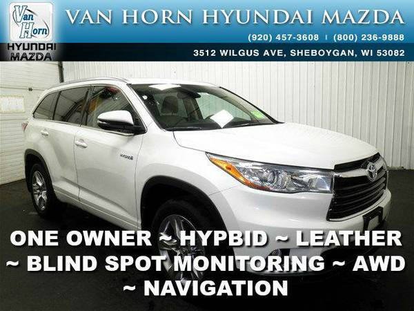 2014 *Toyota Highlander Hybrid* Limited AWD - Blizzard Pearl BAD...