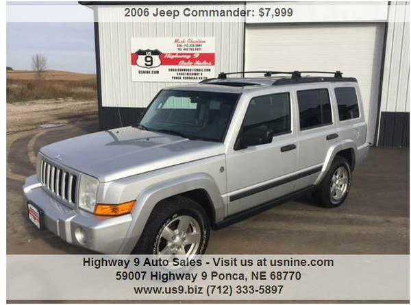 2006 Jeep Commander 4x4 - Silver - Sunroof - Leather - DVD - 3rd Row