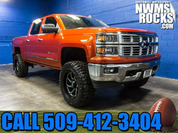 Lifted 2015 *Chevrolet Silverado* 1500 LTZ 4x4 - Off Road Tires! Lifte