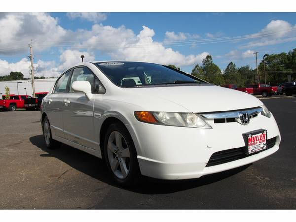 2007 Honda Civic EX Sedan white