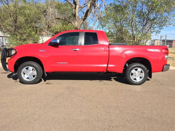 2007 TOYOTA TUNDRA LIMITED, Double Cab, TRD 4X4, 196k miles - NICE -