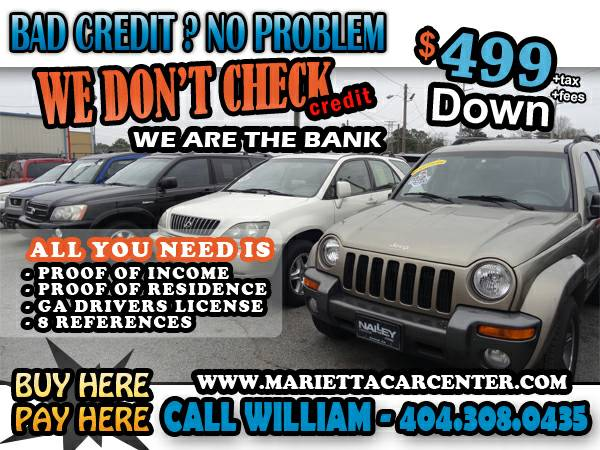 !! WE ARE SAYING YES ALL DAY TODAY 2 LOCATIONS 200 CARS TO CHOOSE !!