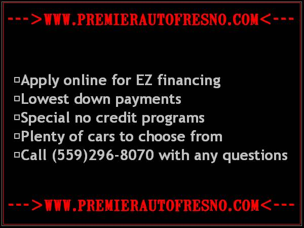 Start Over @ Premier Auto Fresno, Low Down, Low Monthly, We Say Yes!