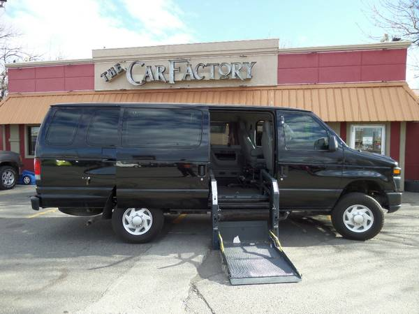 2011 E-350 PASSENGER VAN WITH WHEEL CHAIR LIFT AND HAND CONTROLS