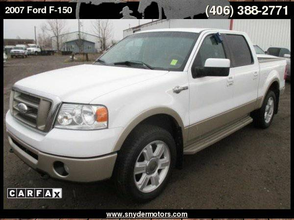 2007 Ford F-150 KING RANCH!CREWCAB,CLEAN,DVD, ONLY 132K