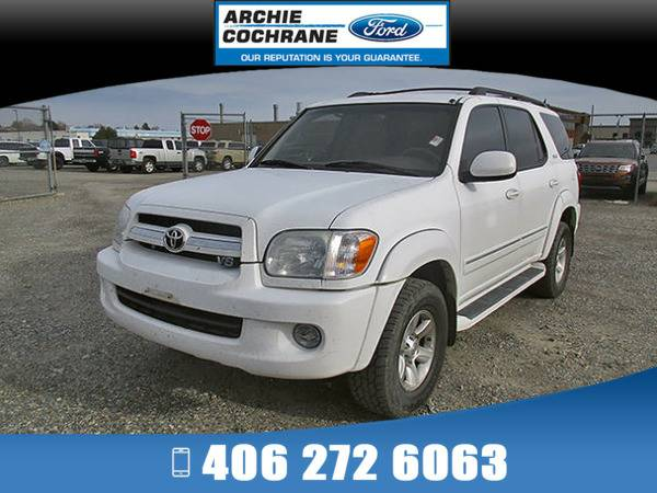 *2006* *Toyota Sequoia* *SR5 V8 Leather JBL Sound* *White*