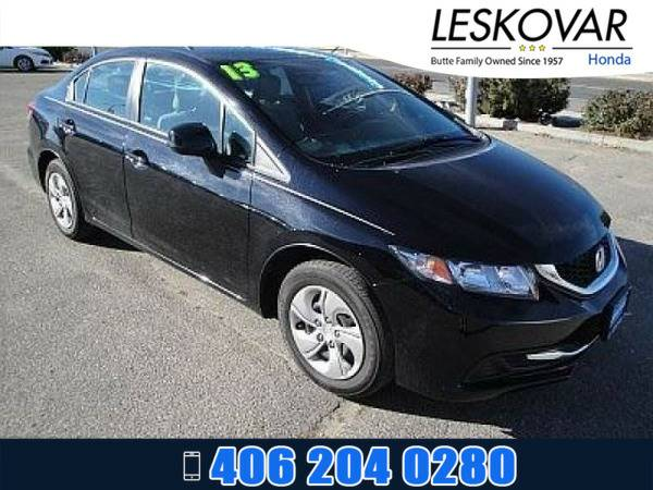 *2013* *Honda Civic Sdn* *4dr Car LX* *Crystal Black Pearl*