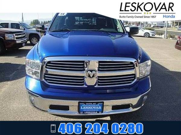 *2014* *Ram 1500* *Quad Cab Pickup Big Horn* *MEDIUM BLUE*