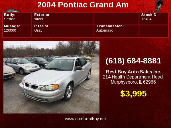 2004 Pontiac Grand Am SE1 4dr Sedan Call for Steve or Dean