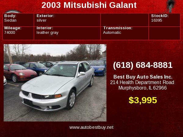 2003 Mitsubishi Galant ES V6 4dr Sedan Call for Steve or Dean